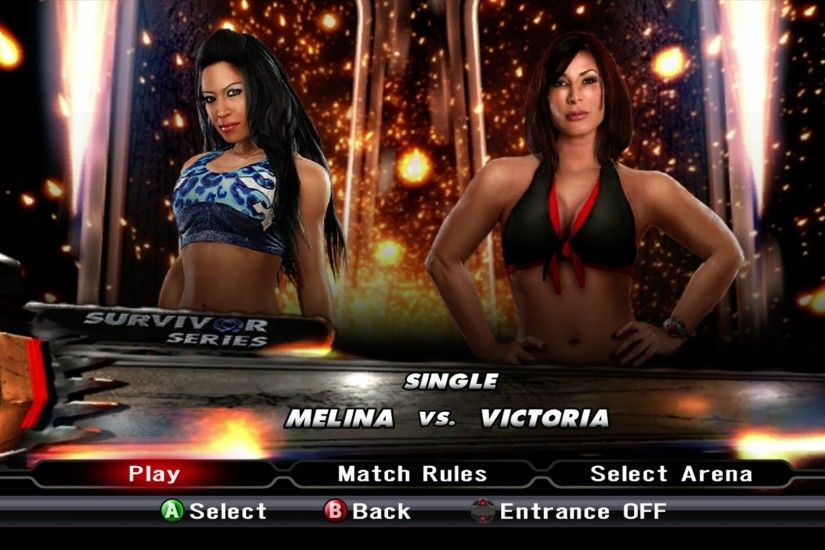 Raw 2010 Images WWE Smackdown Vs Raw 2009 - Melina Vs. Victoria - YouTube  ...