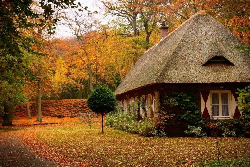 1920x1080 Country House in Autumn