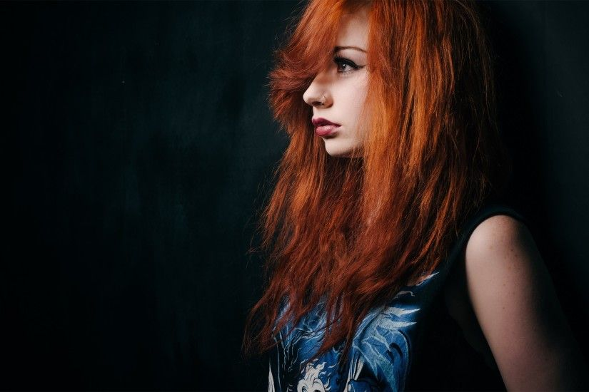 Lovely Girl Redhead Piercing Photo