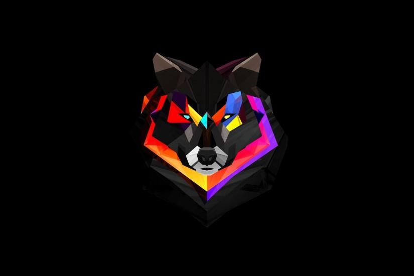 Abstract Colorful Wolf Face is a high definition wallpaper from our  collection of free background images
