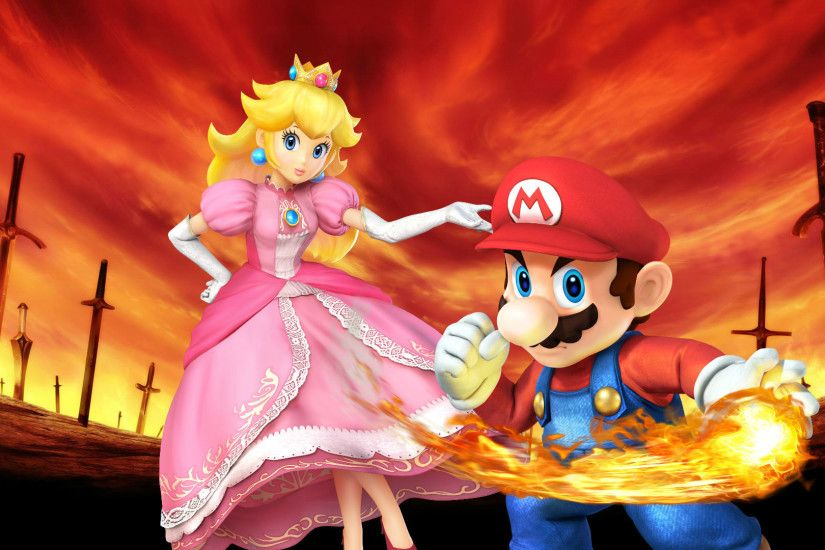 ... Mario and Princess Peach Wallpaper 2 by weissdrum