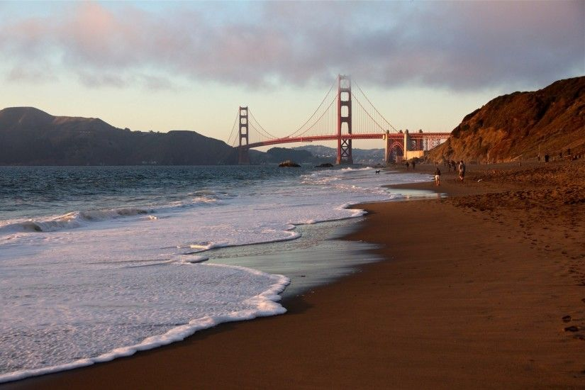 Wallpaper San Francisco, Golden Gate Bridge, usa, beach, California » City,  nature, landscape photos