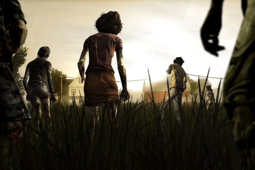 zombie The Walking Dead game wallpaper is a hi res Wallpaper .
