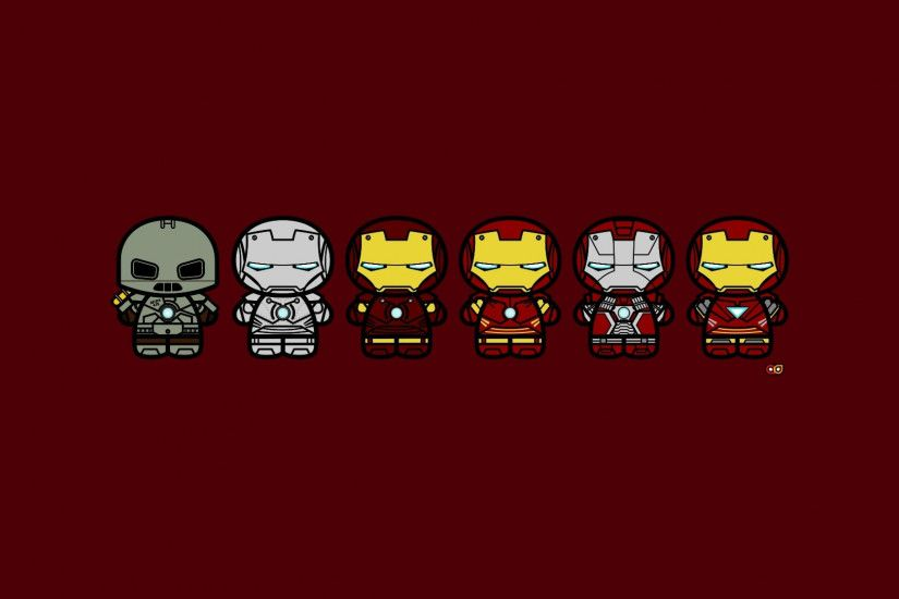 Ironman - Suit Evolution (x-post from wallpapers) ...