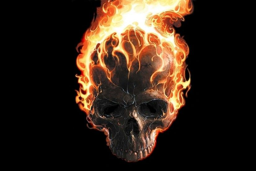 digital Art, Black Background, Minimalism, Skull, Teeth, Fire, Ghost Rider,  Movie Poster, Burning, Comics, Marvel Comics Wallpapers HD / Desktop and  Mobile ...