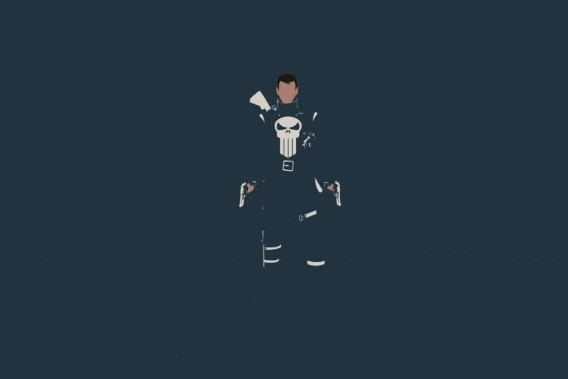 General 1920x1080 The Punisher minimalism Marvel Comics skull