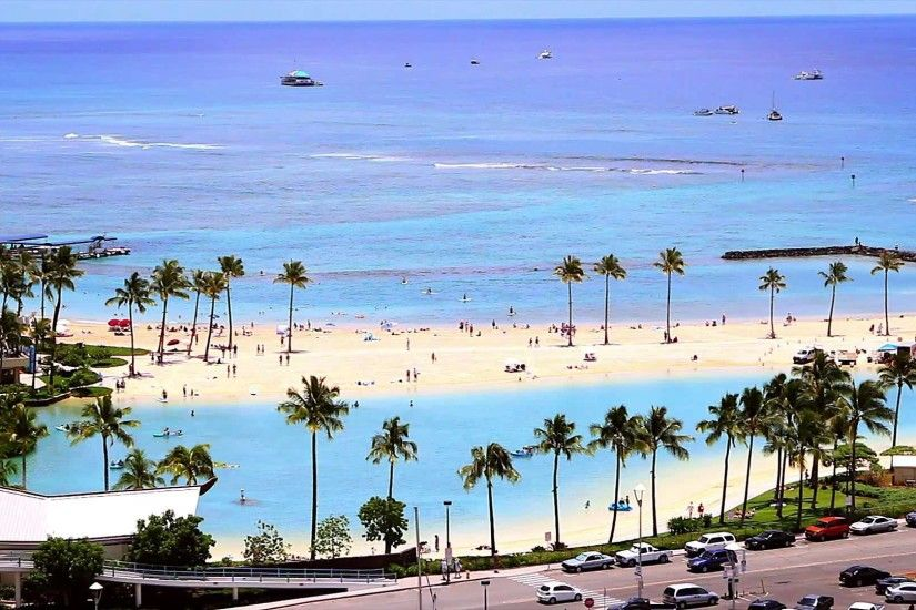 Waikiki Beach Hd Wallpaper