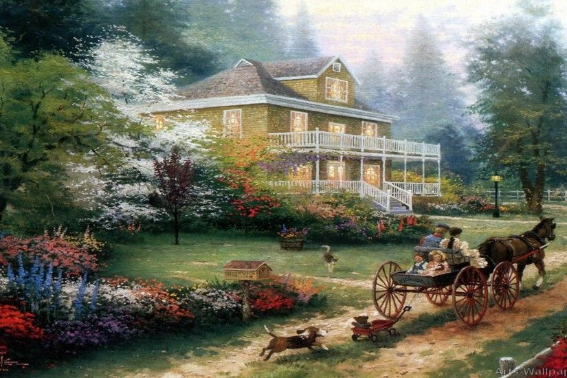 ... thomas kinkade painting reference the company ...
