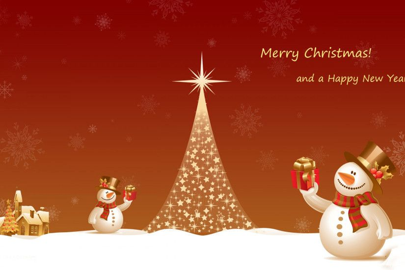 Merry Christmas and Happy New Year HD Wallpaper.
