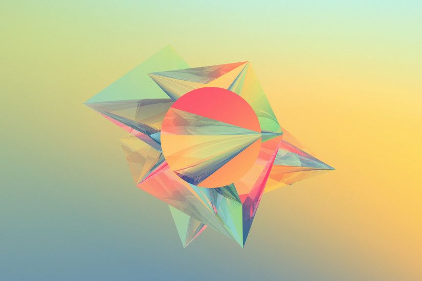 Abstract Crystals Shape Colorful Desktop Wallpaper Uploaded by 10Mantra