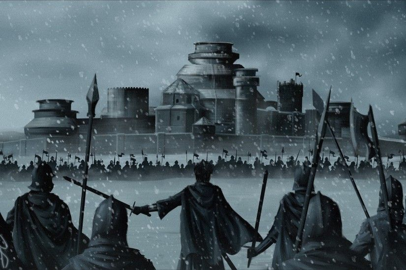 ... game of thrones winterfell stannis baratheon war army snow; a song of  ice and fire wallpaper and background 1124x800 ...