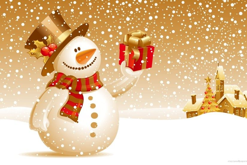 christnas snowman wallpaper gift