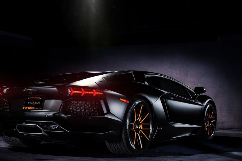 Matte Black Lamborghini Aventador on Vellano wheels Wallpaper available in  various resolutions to suit your computer desktop, iPhone, iPad & Android™  ...