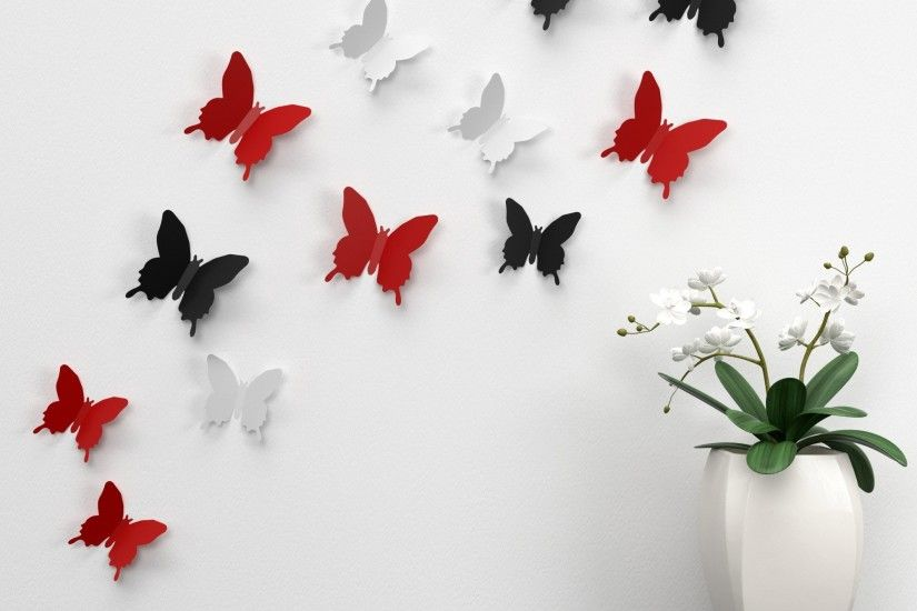 Black And Red Butterfly Wallpaper For Android
