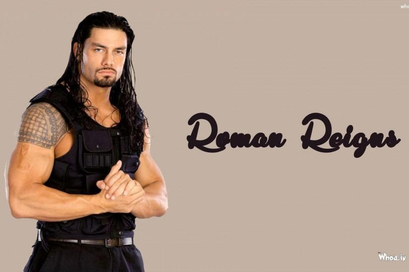 ... Roman Reigns in Black Jacket Wallpaper ...