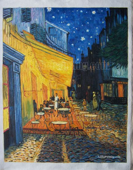 Cafe terrace at night, Vincent van Gogh - Oil painting reproduction