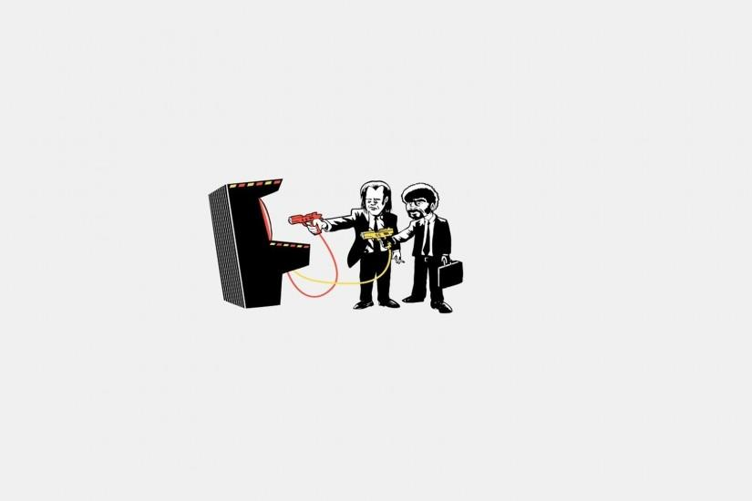 Arcade Artwork Minimalistic Pulp Fiction Wallpaper