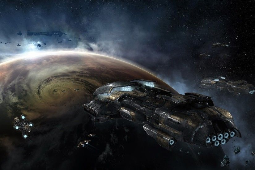 space, EVE Online, Gallente, Spaceship Wallpaper HD