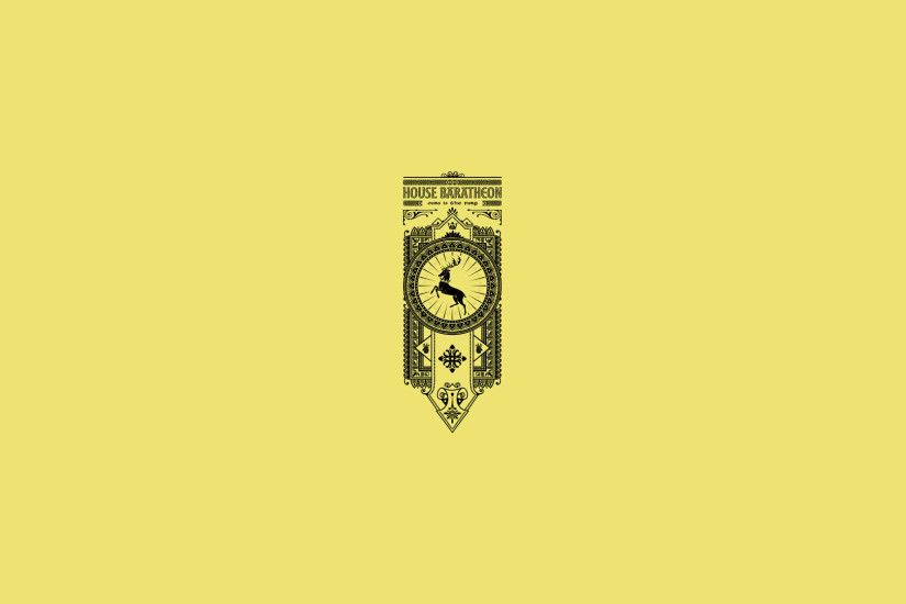 House Baratheon, Ours is the fury, sigil, banner Game of Thrones banners  wallpapers