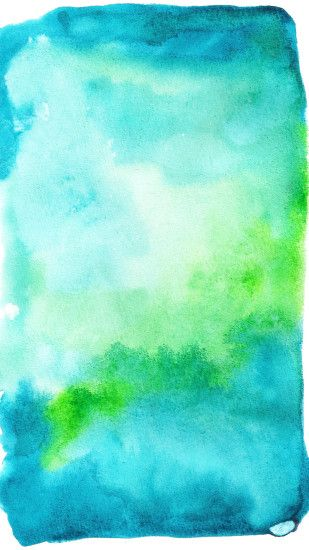 Click to download blue and green watercolor wallpaper.