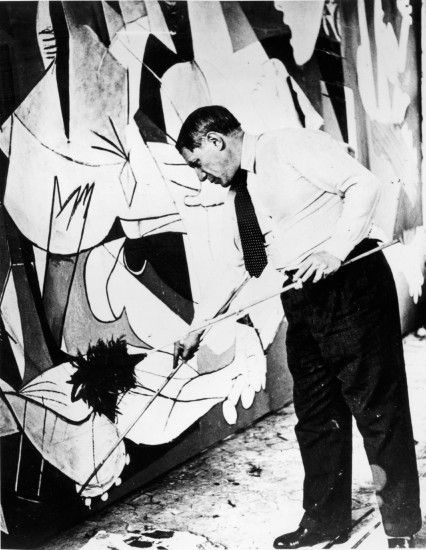 A Different Guernica - John Richardson: Pablo Picasso painting Guernica in  his studio, Paris