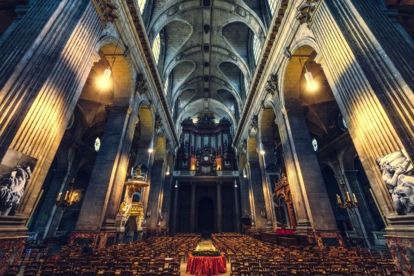 Saint-Sulpice is a Roman Catholic church in Paris, France in the 3rd  wallpaper