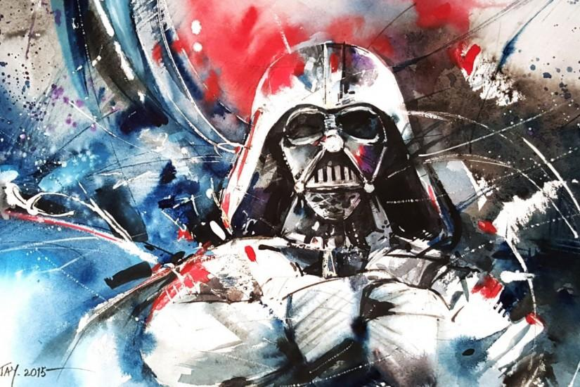 1920x1080 Wallpaper darth vader, star wars, abstraction, art
