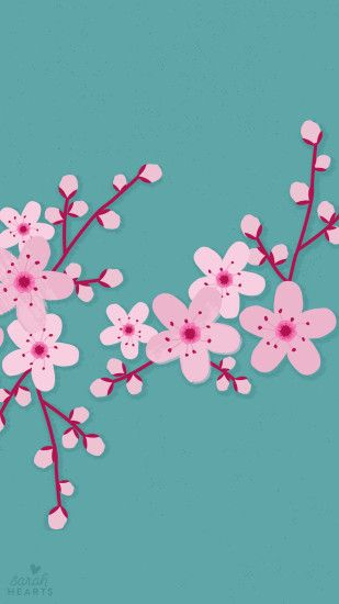 Sakura Cherry Blossom iPhone Wallpaper Home Screen @PanPins