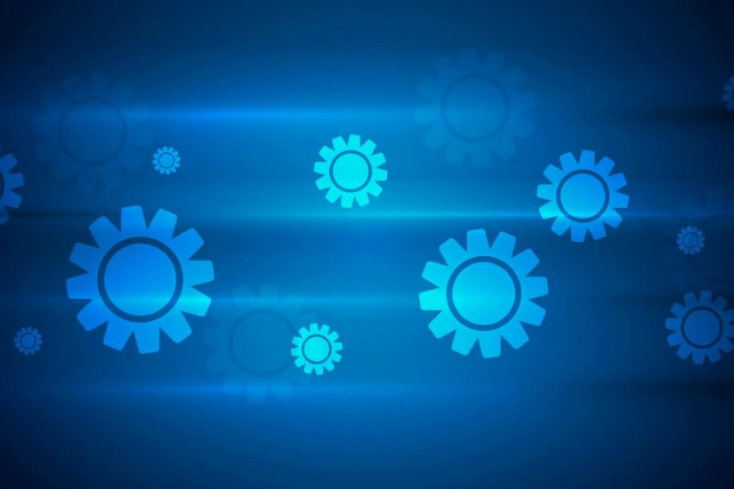 Dark blue hi-tech background with gears. Video animation HD 1920x1080