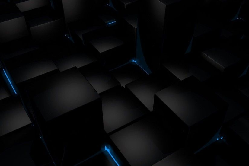 Wallpaper Black Blue Cubes | Important Wallpapers 3D Cube Wallpapers -  Wallpaper Cave ...