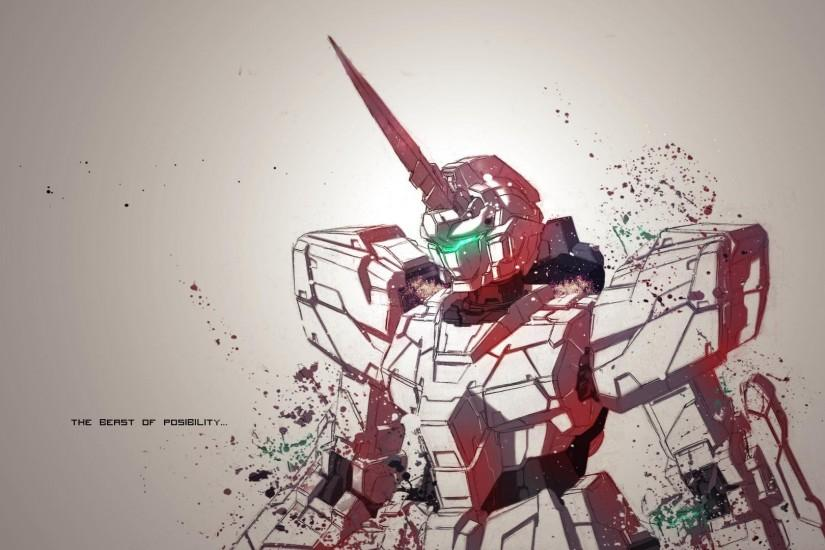 Gundam Unicorn Mode Wallpaper Wallpaper