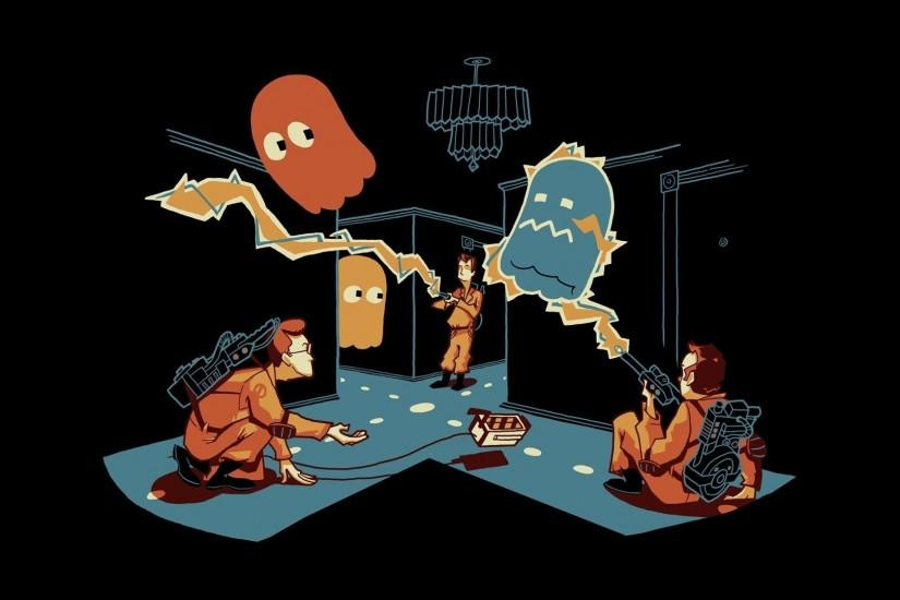 Humor - Movie Ghostbusters Pac-Man Wallpaper
