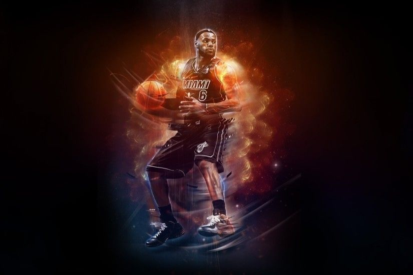 lebron james nba basketball basketball miami heat player fire