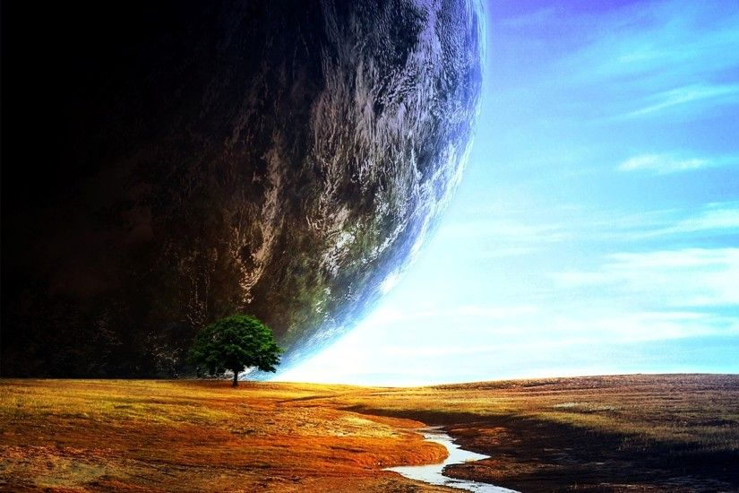 1920x1135 Sci Fi - Landscape Sphere Floating Island Wallpaper