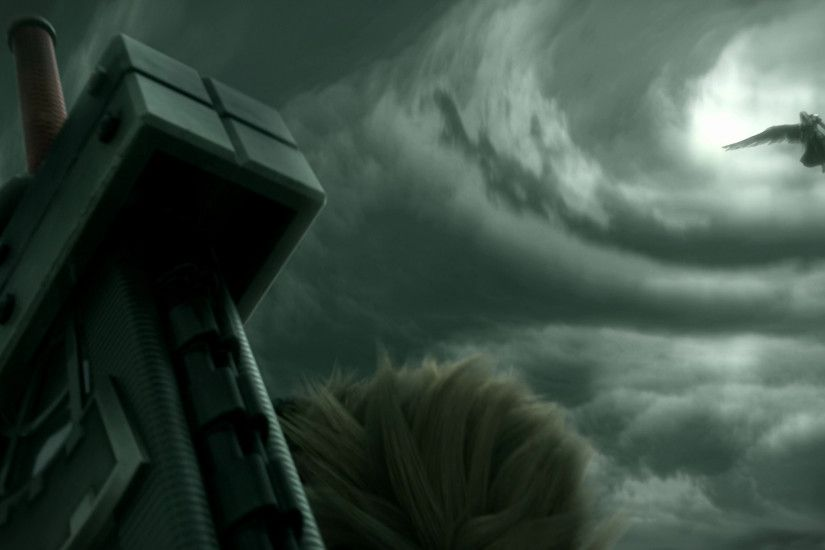 Cloud Strife Sephiroth Final Fantasy 7 Advent Children darkness screenshot  computer wallpaper atmosphere of earth