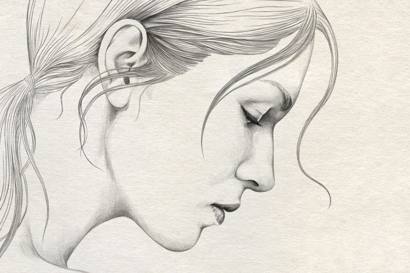 Beautiful Pencil Sketches Of Sad Girl Sad Girl.wallpaper In Pencil Sketch -  Drawing Art Ideas