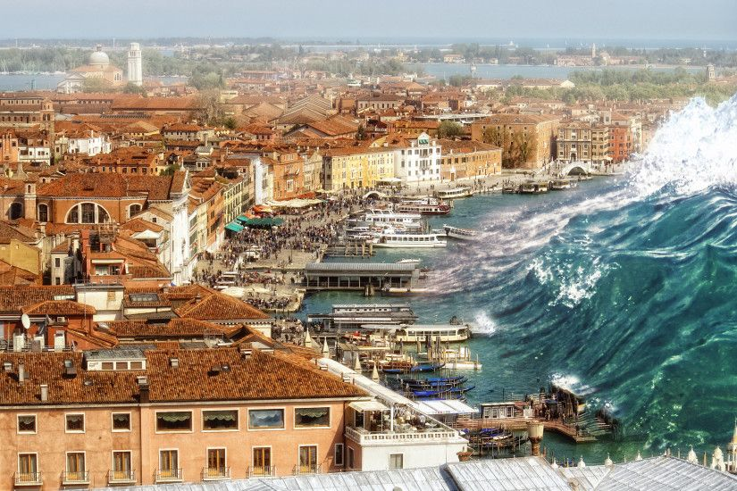 Tsunami Approaching Venice, Italy HD Wallpaper | Hintergrund | 2048x1235 |  ID:728474 - Wallpaper Abyss