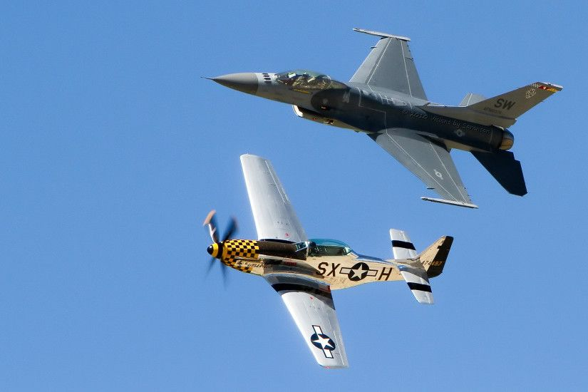 United-States-Air-Force-Heritage-Flight-over-Idaho-