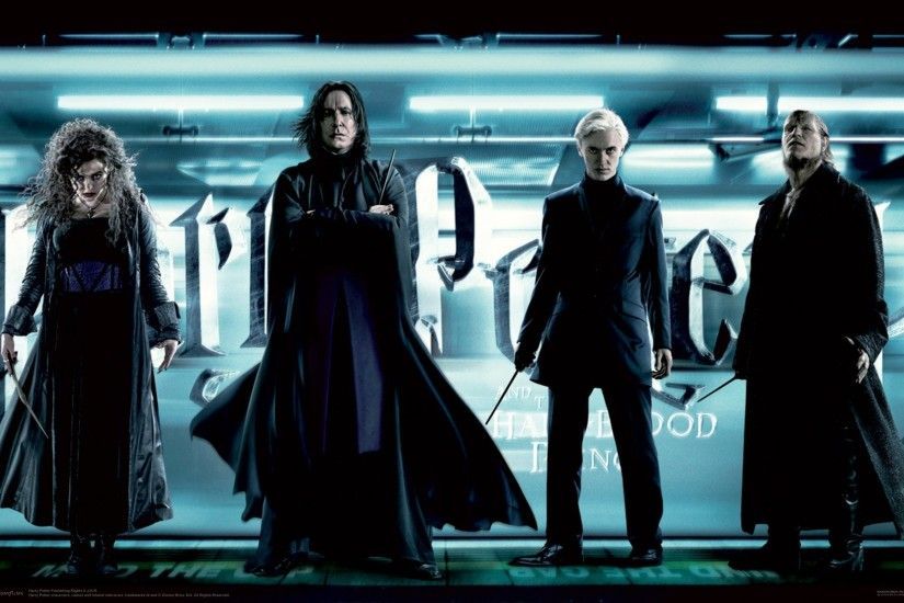 Movie - Harry Potter and the Half-Blood Prince Bellatrix Lestrange Severus  Snape Draco Malfoy