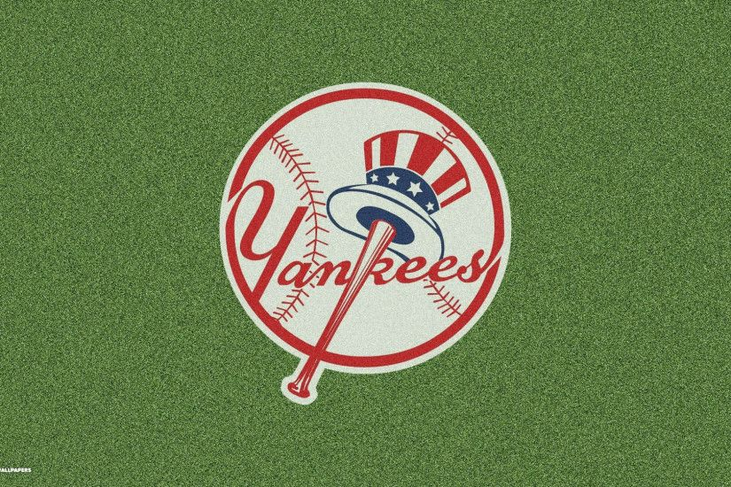 new york yankees logo grass background