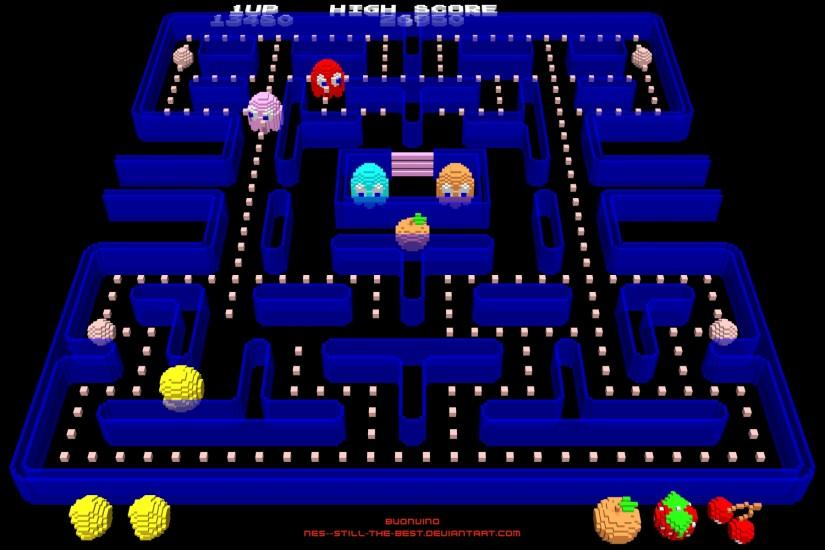 Pacman Maze Wallpaper Pacman by nes--still-the-best