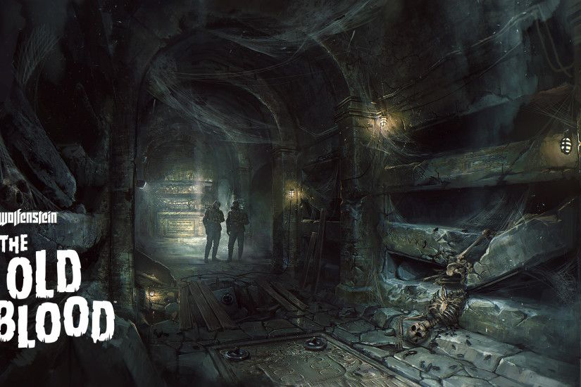 Skeleton in the catacombs - Wolfenstein: The Old Blood wallpaper