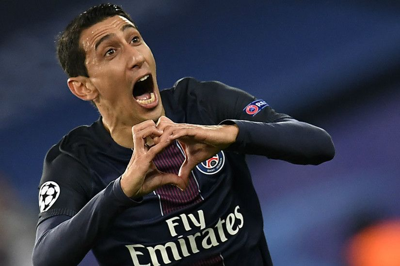 Angel Di Maria Paris SG FC Barcelona UEFA Champions League 14022017. ""