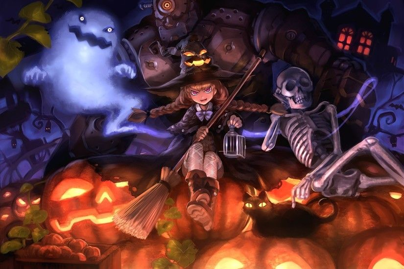 Anime Halloween Wallpaper - WallpaperSafari. Anime Halloween Wallpaper  WallpaperSafari