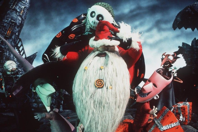 Jack Santa Nightmare Before Christmas HD Desktop Wallpaper