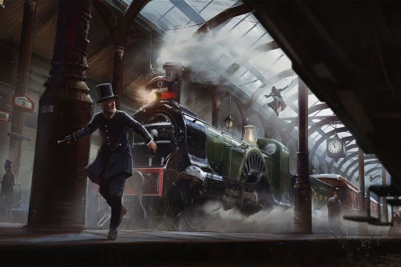 Download Assassins Creed Syndicate 4k Wallpaper Art Train 3840x2160