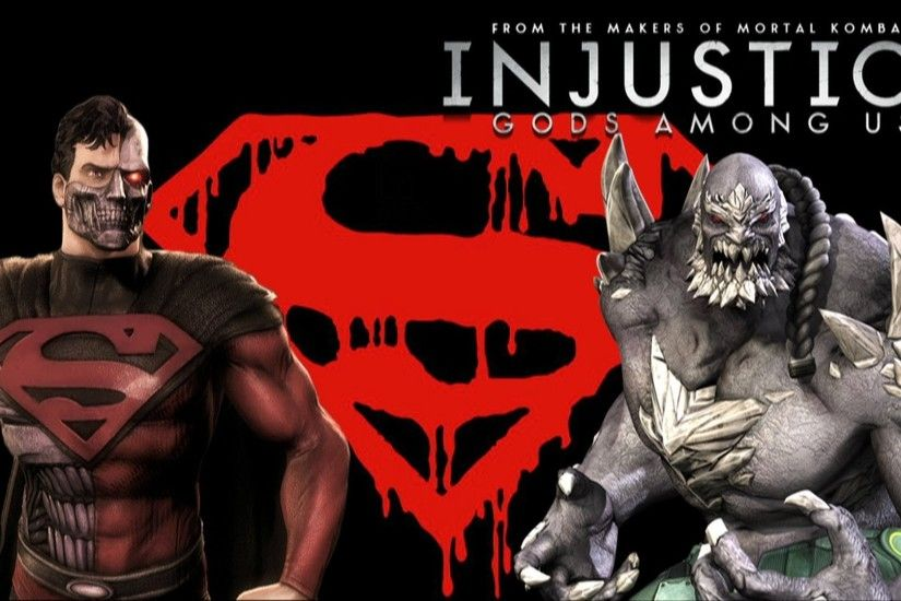 Injustice Gods Among Us - Cyborg Superman Vs Doomsday with Lore & Skins -  YouTube