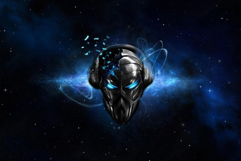 Headphones Abstract Outer Space Music Blue Eyes Dj Wallpaper At 3d  Wallpapers