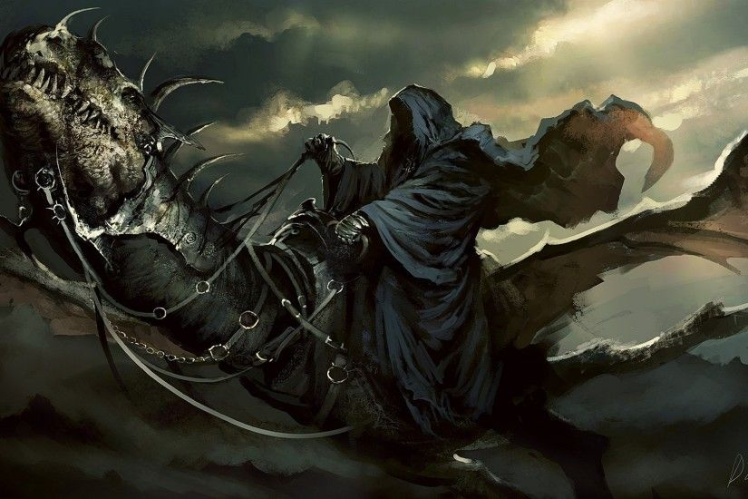 Lord Of The Rings Reaper Dragon Dark Wallpaper At Fantasy Wallpapers