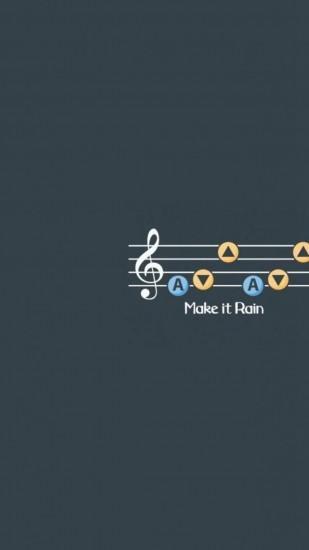 Make It Rain Music Notes Dark Pattern iPhone 6 wallpaper